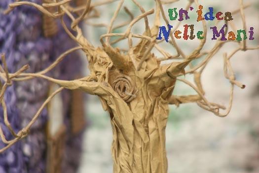 riciclo creativo, albero di carta