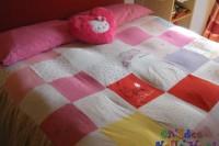 copripiumone patchwork ritagli t-shirt magliette body e pigiamini