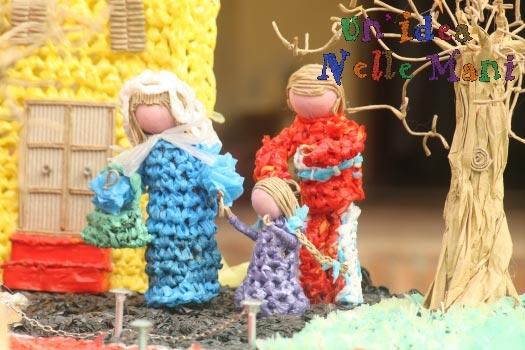 presepe fai da te uncinetto filo di plastica nativity crochet