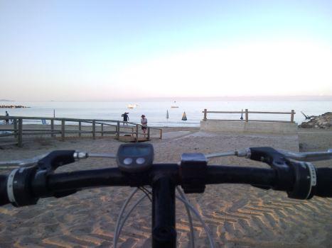 alba in bici