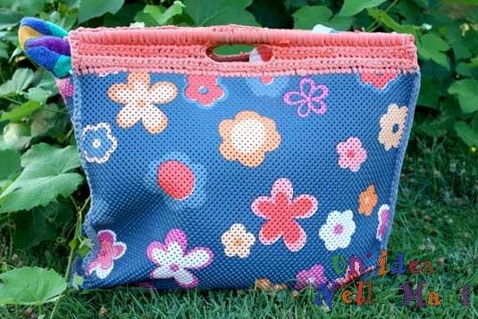 borsa mare fai da te, borsa mare all'uncinetto, borsa mare originale, borsa mare gomma, borsa materiali riciclo,