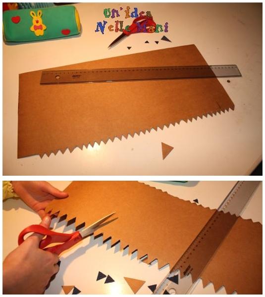 craft casetta fai da te cartone stoffa portabomboniere