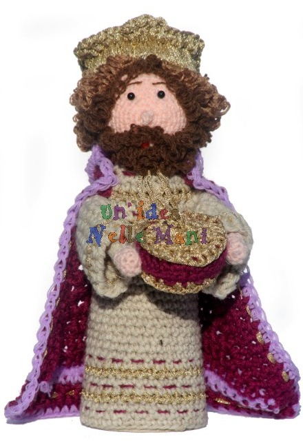 amigurumi, personaggi del presepe, re magi, presepe all'uncinetto