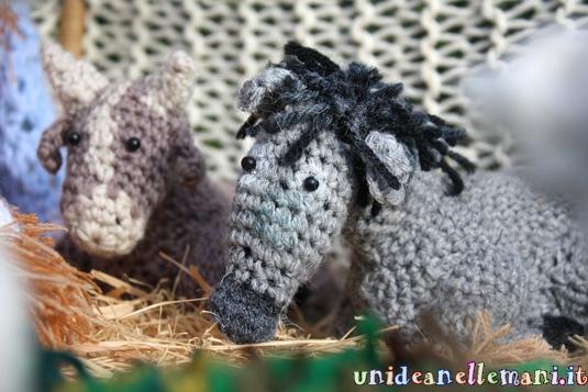 amigurumi, presepe in lana ad uncinetto