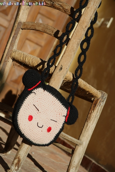 Borsa pucca all'uncinetto, idea regalo di natale fai da te