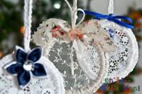 addobbi, decorazioni di natale, fai da te, riciclo, uncinetto