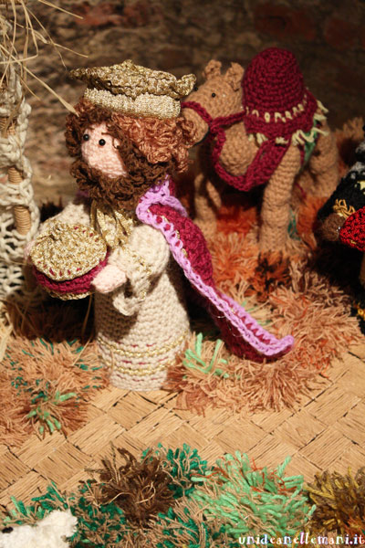 personaggi del presepe all'uncinetto amigurumi