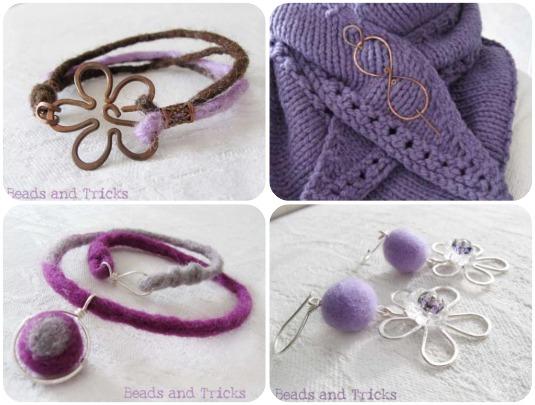bijoux fatti a mano, bijoux in rame, gioielli in feltro, vendita on line,