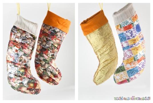 come fare una calza della befana, riciclo carta, idee per calza della befana,