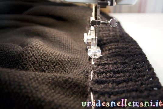 collo a maglia per mantella