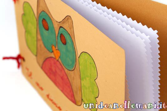 Lavoretti per bambini con la carta come fare un diario for Fai da te disegni architettonici