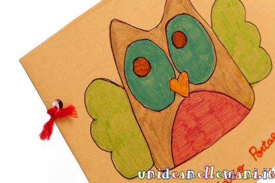lavoretti per bambini, diario fatto con il cartoncino