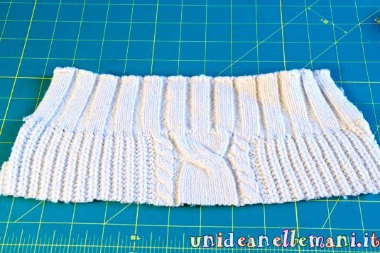 bordo per calza della befana,riciclo maglia