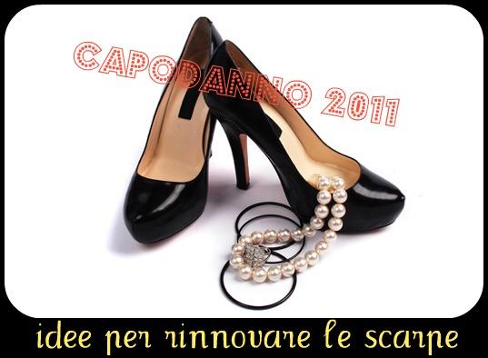 come rinnovare le scarpe, refashion shoes, capodanno 2011