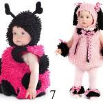 idee per carnevale, costumi di carnevale fai da te, costumi carnevale per bimbi piccoli, costume coccinella, costume da cane