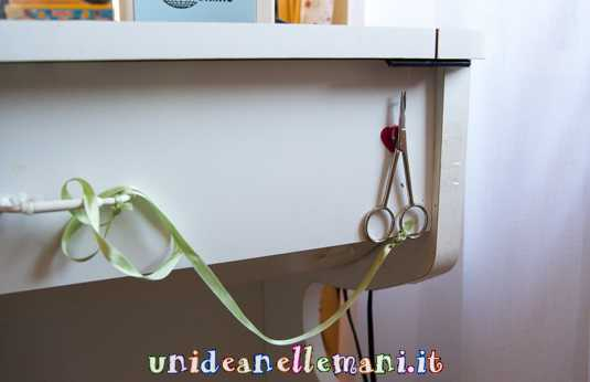 life hack, piccole idee per tenere in ordine la craft room
