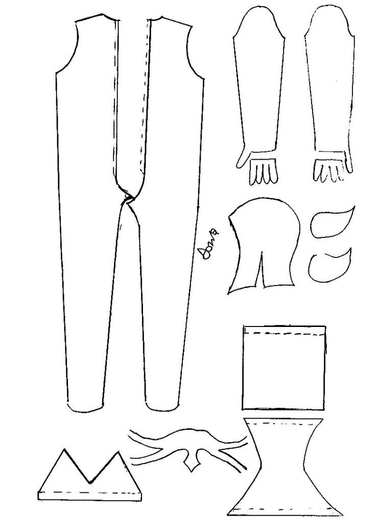 modello pattern costume da avatar