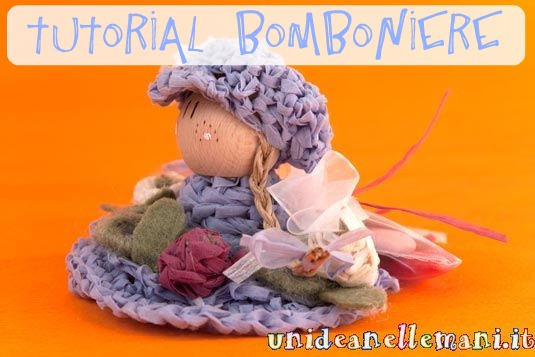 Tutorial, originali bomboniere all'uncinetto, bamboline all'uncinetto, bomboniere fai da te,