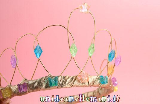 corona da principessa, copricapo carnevale, tiara fai da te, corona da regina, fai da te,