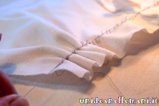 come increspare la stoffa, fare una gala di stoffa