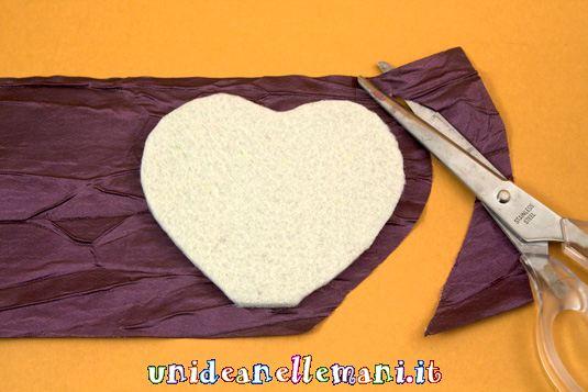 portafotografie a forma di cuore, s.valentino, riciclo