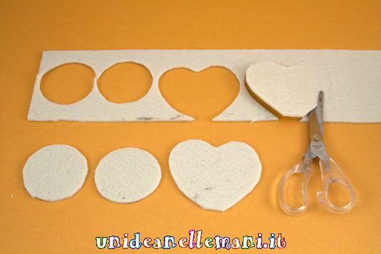 portafotografie fai da te per s.valentino, riciclo feltro stoffa e carta alluminio
