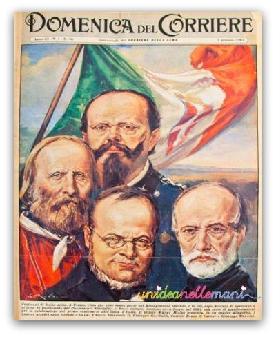 domenica del corriere, unità d'italia