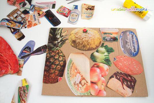 paper food, cibo giocattolo, cibi di carta, lavoretti con la carta, riciclo, carta,