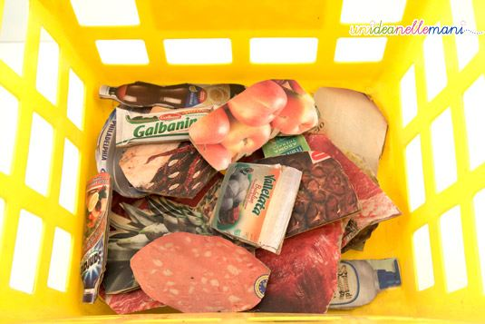 paper food, cibo giocattolo, cibi di carta, lavoretti con la carta, riciclo carta,