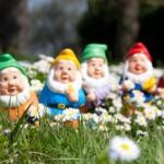 Sette nani nel giardino