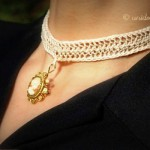 collana all'uncinetto, uncinetto a forcella, forcella fai da te, bijoux a crochet, collana fai da te