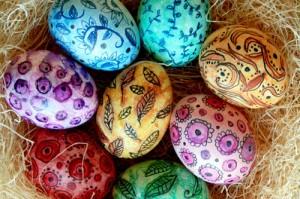 uova di pasqua, decorazioni, pasqua, uova di pasqua decorate, disegni, matite acquarello,