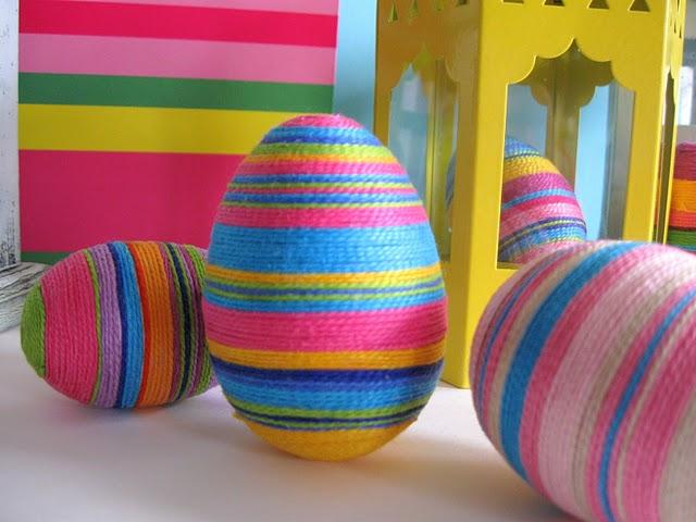 uova di pasqua, decorazioni, pasqua, uova di pasqua decorate, fili da ricamo, filo mouline