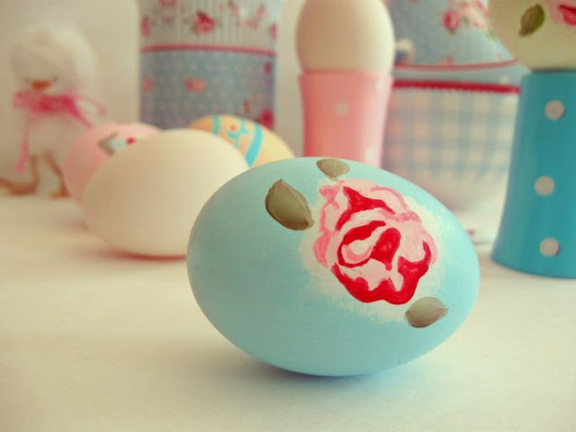 uova di pasqua, decorazioni, pasqua, uova di pasqua dipinte, stile vintage