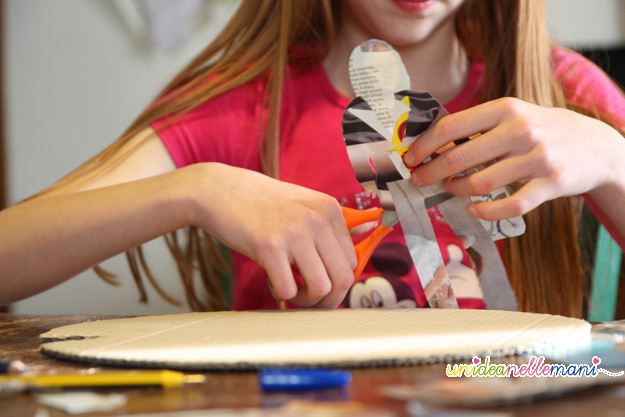 giochi per bambini, ritagli di giornale, ritagli riviste, giochi da fare in casa, collage, giochi con la carta, riciclo,