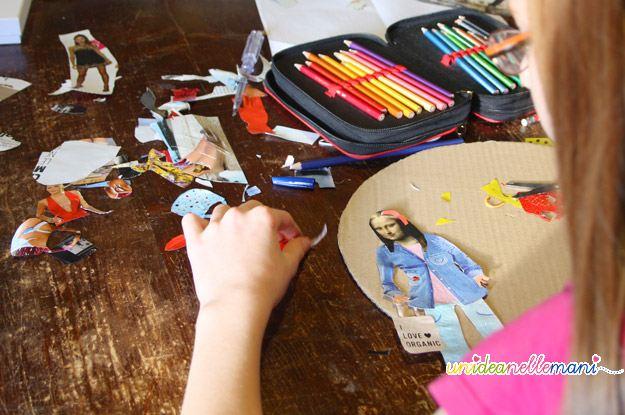 Gioco e riciclo per bambini i collage con i ritagli delle for Riviste per la casa
