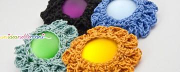 fiore all'uncinetto, fiori, uncinetto, crochet, fatto a mano, bottoni,