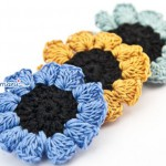 fiore all'uncinetto, fiori, uncinetto, crochet, fatto a mano, bijoux all'uncinetto, bottoni all'uncinetto,