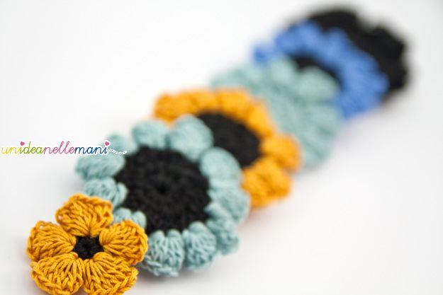 fiore all'uncinetto, fiori, uncinetto, crochet, fatto a mano, bijoux all'uncinetto, bottoni all'uncinetto,