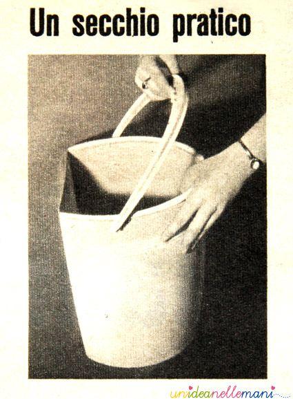 idee vintage, anni 60, domenica del corriere, secchio