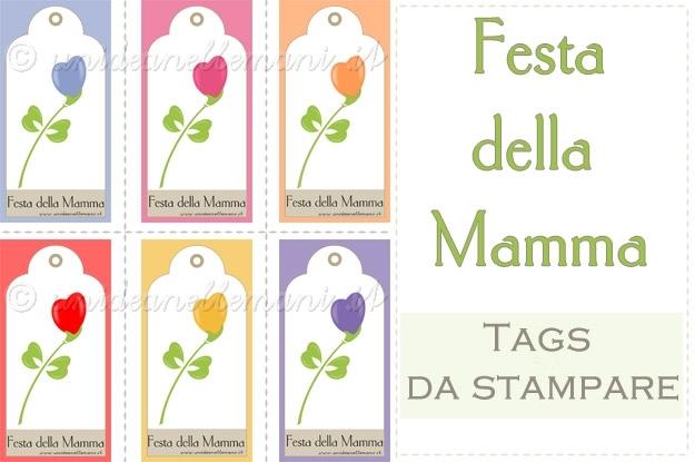 biglietti auguri festa della mamma, biglietti da stampare festa della mamma, gift tags da stampare, biglietti per pacchi regalo, festa della mamma