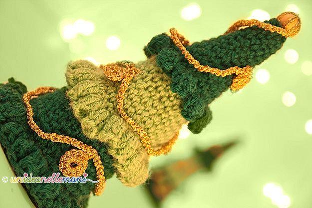 albero di natale all'uncinetto, decorazioni di natale, fai da te, addobbi natalizi, natale, lavoretti di natale,