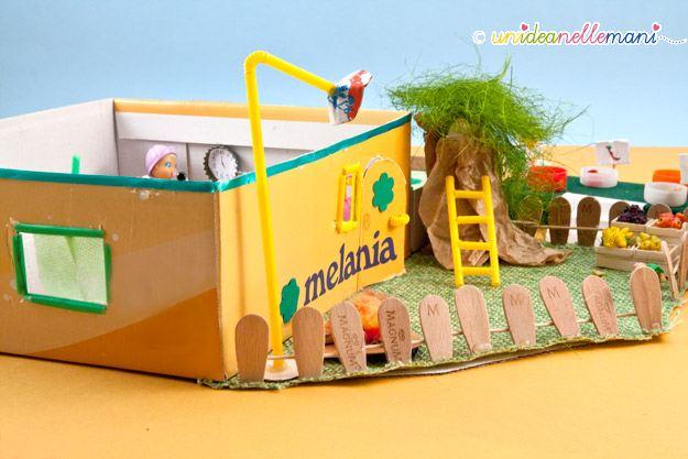 casa delle bambole, fai da te, paciocchini, casa per i paciocchini, riciclo scatola da scarpe, riciclo cannucce, doll house, paciocchini,