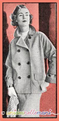 tailleur anni 60, modello tailleur, tailleur in gabardine, tailleur da viaggio