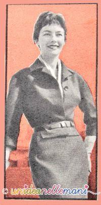 tailleur anni 60, modello tailleur, la baschina