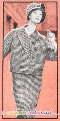 tailleur anni 60, modello tailleur, tailleur tweed,