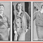 Tre graziosi modelli di tailleur autunnali anni 60