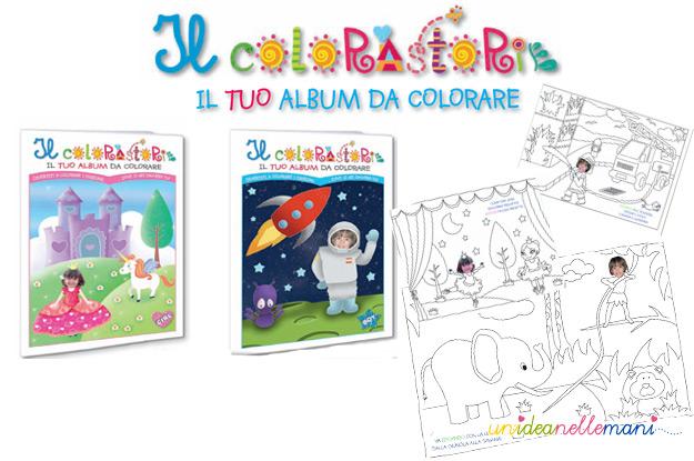 scelta maculata, colorastorie, album da colorare, stickers per bambini,