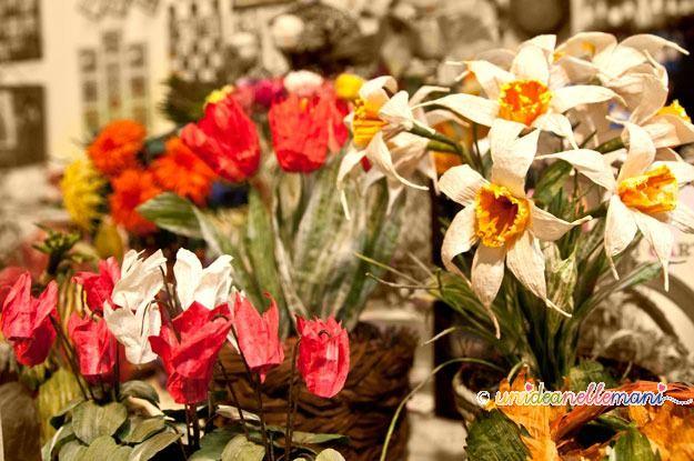 fiori di carta, twist art, pirkka, filo finlandese, decorazioni, filo di carta
