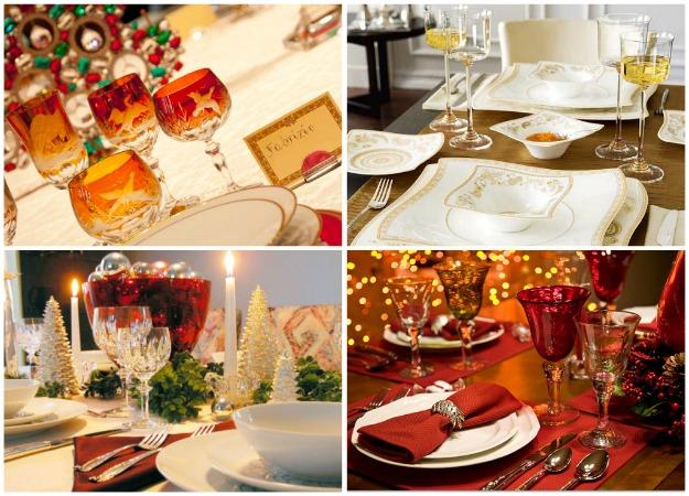 tavola di natale, decorazioni per la tavola di natale, segnaposti, apparecchiare la tavola di natale
